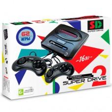 Приставка 16 бит SUPER DRIVE 2 + 62 встроенные игры